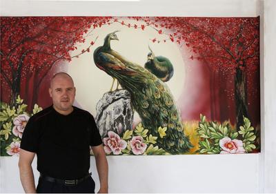 Художественная роспись по стене от дизайн студии Романа Москаленко - main